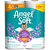 ANGEL SOFT Toilet Paper Bath Tissue, 6 Mouble Rolls, 425+ 2-Ply Sheets with Fresh Lavender Scented Tube