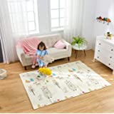 Infant Shining Baby Mat Play Mat Folding Puzzle Playmat, Game Pad 200 * 150 * 1cm XPE Portable Double Sides Foam Crawling Mat