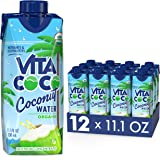 Vita Coco Coconut Water, Pure Organic | Refreshing Coconut Taste | Natural Electrolytes | Vital Nutrients | 11.1 Oz (Pack Of