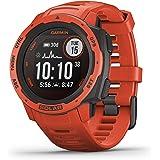 Garmin GM-010-02293-71 Instinct Solar Smartwatch, Flame Red