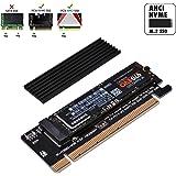 EASYDIY NVME PCIeアダプタ+ ヒートシンク付きM.2 NVME SSD - PCI Expressアダプ…