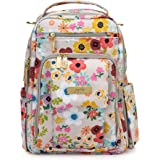 JuJuBe | Be Right Back Travel Backpack/Diaper Bag with Changing Pad | Stay Organized for Adults | Enchanted Garden