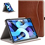 ZtotopCase iPad Air 10.9 2020 Case, Leather Case with Pocket and Stand, Business Leather Case for iPad Air 4 - Brown