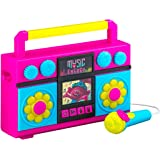 Trolls World Tour Sing Along Boombox with Microphone, Built in Music, Flashing Lights, Real Working Mic for Kids Karaoke Mach