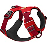 RUFFWEAR - Front Range Dog Harness, Reflective and Padded Harness for Training and Everyday, Red Sumac, Medium