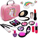 Senrokes Washable Makeup Unicorn Cosmetic Toy Girls Play Real Makeup Kit, Princess Unicorn Makeup for Girls / Toddlers, Safe