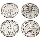 GODINGER Silver Art Airplane Coasters, Set of 4