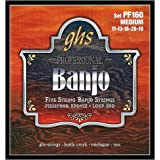 GHS Strings PF160 5-String Banjo Strings, Phosphor Bronze, Medium (.011-.026)