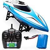 Remote Control Boats for Pools and Lakes - H102 Velocity Remote Control Boat for Adults and Kids, Self Righting Brushless RC