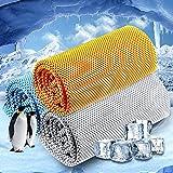 ZENLO 3枚セット 冷却タオル スポーツタオル UVカット 超冷感タオル 瞬冷タオル 熱中症対策 速乾タオル 日焼け防止 クール 超吸水 アウトドア 運動 水泳 登山 旅行 軽量