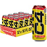 C4 Energy Drink 16oz (Pack of 12) - Strawberry Watermelon Ice - Sugar Free Pre Workout Performance Drink with No Artificial C