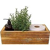 Peonies Bathroom Decor Box - Toilet Paper Holder, Caddy Organizer for Masks, or Farmhouse Kitchen Utensil Holder Caddy, DIY W