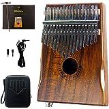 Moozica 17-Key EQ Kalimba, Koa Tone Wood Electric Finger Thumb Piano Built-in Pickup With 6.35mm Audio Interface (K17KEQ)
