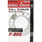 KYO-EI P-005-2P Wheel Spacer [5mm 4/5H] PCD98-114.3 [Quantity: 2 Pieces]