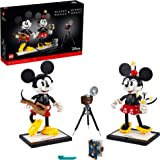 LEGO Disney Mickey Mouse & Minnie Mouse Buildable Characters (43179), Classic-Style Mickey Mouse Collectible Adult Building K