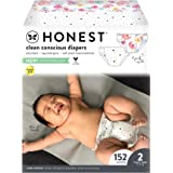 The Honest Company - Super Club Box, Clean Conscious Diapers, Young At Heart + Rose Blossom, Size 2, 152 Count (Packaging May