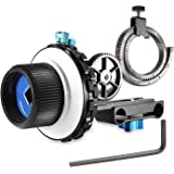Neewer A-B Stop Follow Focus C2 with Gear Ring Belt for DSLR Cameras Such as Nikon,Canon,Sony DV/Camcorder/Film/Video Cameras