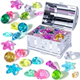 Tacobear Diving Gem Pool Toys Sinking Treasures Chest Swimming Pool Toy Set Pirate Underwater Games Dive Training Gift for Ki