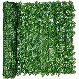 shopparadise グリーンフェンス リーフフェンス リーフラティス 目隠し 緑のカーテン ハードネットタイプ 日よけ サンシェード フェイクグリーン 庭 壁 窓 飾り 50X100CM/50X300CM