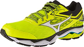 Mizuno Men's Wave Ultima Shoes, Safety Yellow/Silver/Black, 10.5 US