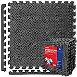PROIRONトレーニングマット エクササイズマット ジョイントマット 防音 キズ防止 62×62×1.97cm