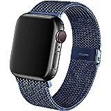 KIMOKU コンパチブル apple watch バンド,コンパチブル iWatch 通用ベルト コンパチブル apple watch series SE/6/5/4/3/2/1に対応 ステンレス留め金(42mm 44mm, ブルー)