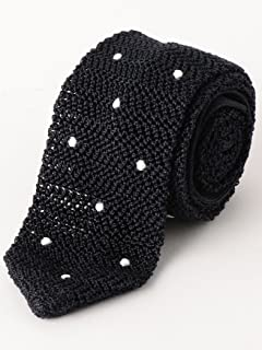Dot Silk Knit Tie 3134-343-2388: Navy