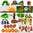 Little Folk Visuals The Very Hungry Caterpillar Precut Flannel/Felt Board Figures for Toddlers, Kindergarteners, Interactive