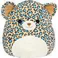 """Squishmallow Official Kellytoy Plush 16"""" Liv The Teal Leopard - Ultrasoft Stuffed Animal Plush Toy"""