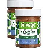 【北欧産】Orivego(オリヴェゴ)ピーナッツ、アーモンドバター 190g 2個セット [アーモンド]