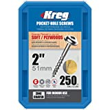 Kreg SML-C2-250 Pocket Screws 2-Inch, 8 Coarse, Washer Head, 250 Count
