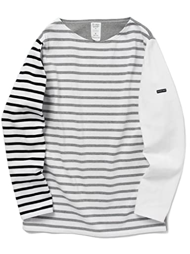 Crazy Pattern Boatneck Shirt 51-14-0138-012: Monotone