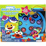 Cardinal Industries 6053381 Pinkfong Baby Shark Let's Go Hunt Musical Fishing Game, for Families and Kids Ages 4 and Up