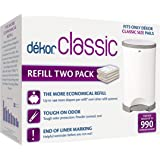 Dekor Classic Diaper Pail Refills, 2ct (Holds up to 990 diapers)