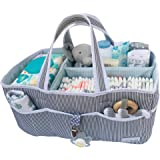 Lily Miles Baby Diaper Caddy - Large Organizer Tote Bag for Infant Boy or Girl - Baby Shower Gift - Nursery Must Haves - Regi