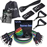 TheFitLife Exercise and Resistance Bands Set - Stackable up to 110 lbs Workout Tubes for Indoor and Outdoor Sports...