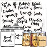 Mega Set 110 Pantry Labels - Preprinted Kitchen Labels Sticker by Talented Kitchen. Cursive Script Design. Clear Water Resist
