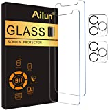 Ailun 2 Pack Screen Protector Compatible for iPhone 12 Pro Max[6.7 inch] + 2 Pack Camera Lens Protector,Tempered Glass Film,[
