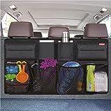 CTFIVING Car Boot Organiser Waterproof Kick Mats Car Organiser Seat Back Protectors, Multi-Pocket Children's Travel Storage,