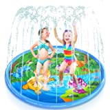 "Dinosaur 68"" Splash Pad ,VSATEN Sprinkler for Kids Toddlers Outdoor Water Sprinkle Toys - Baby Wading Swimming Pool - Fun Bac"