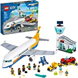 LEGO City Passenger Airplane 60262, with Radar Tower, Airport Truck with a Car Elevator, Red Convertible, 4 Passenger and 4 A