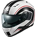 オージーケーカブト(OGK KABUTO)バイクヘルメット フルフェイス KAMUI3 NACK(ナック) ホワイトブラック (サイズ:M) 584870
