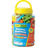 Educational Insights 2940 Phonics Dominoes Short Vowels Game (84 Piece)