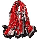 Fonshow Silk Scarf 100% Mulberry Silk Fashion Scarves Long Lightweight Shawl Wrap