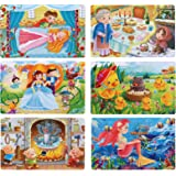 6 Pack Jigsaw Puzzle for Kids, 60 Piece Toddlers Jigsaw Puzzles for Kids 3-10 Years Old Boy Girls Gift Box