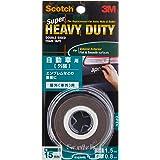Scotch KCA15 Strong Double-Sided Foam Tape, Grey, 15 mm x 1.5 m x 0.8 m