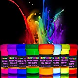 Glow Magic Black Light Paint Set - Set of 8 - Fluorescent Wall Paints – Neon Glow Paints for Blacklights, UV Lights – Glowing