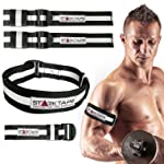 Starktape Blood Flow Restriction Bands | 4 Pack Occlusion Bands, 2 Inches Width for Arms and Legs Training | Gain Fast...
