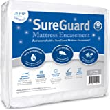 SureGuard Mattress Encasement - 100% Waterproof, Bed Bug Proof, Hypoallergenic - Premium Zippered Six-Sided Cover - 10 Year W