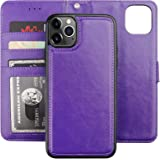 Bocasal iPhone 11 Pro Max Wallet Case with Card Holder PU Leather Magnetic Detachable Kickstand Shockproof Wrist Strap Remova
